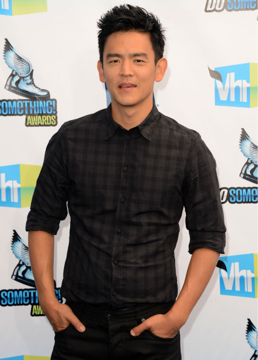 John Cho arrives at the 2012 Do Something Awards at Barker Hangar on August 19, 2012 in Santa Monica, California.