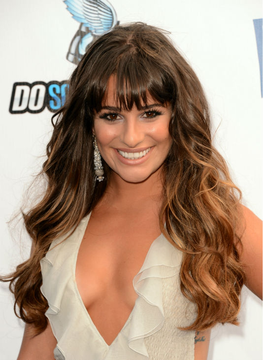 'Glee' actress Lea Michele arrives at the 2012...