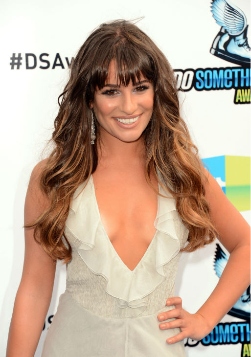 'Glee' actress Lea Michele arrives at the 2012 Do Something Awards at Barker Hangar on August 19, 2012 in Santa Monica, California.