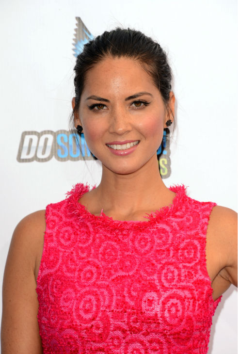 Olivia Munn, who stars in the HBO show 'The Newsroom,' arrives at the 2012 Do Something Awards at Barker Hangar on August 19, 2012 in Santa Monica, California.