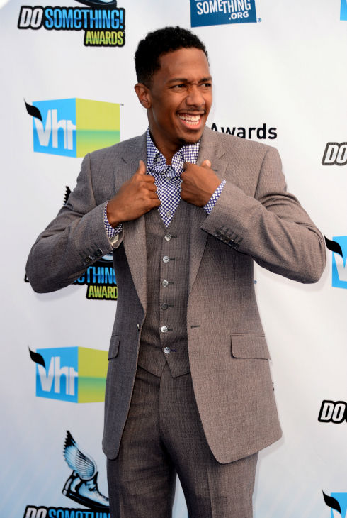 &#39;America&#39;s Got Talent&#39; host Nick Cannon arrives at the 2012 Do Something Awards at Barker Hangar on August 19, 2012 in Santa Monica, California. <span class=meta>(Jason Merritt &#47; Getty Images)</span>