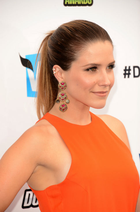 "<div class=""meta image-caption""><div class=""origin-logo origin-image ""><span></span></div><span class=""caption-text"">Sophia Bush of 'One Tree Hill' arrives at the 2012 Do Something Awards at Barker Hangar on August 19, 2012 in Santa Monica, California. She is wearing an orange Olcay Gulsen Spring 2012 gown, a Sutra cocktail ring, Arunashi gold bangles and Sutra cuffs and is carring a Judith Leiber clutch. (Jason Merritt / Getty Images)</span></div>"
