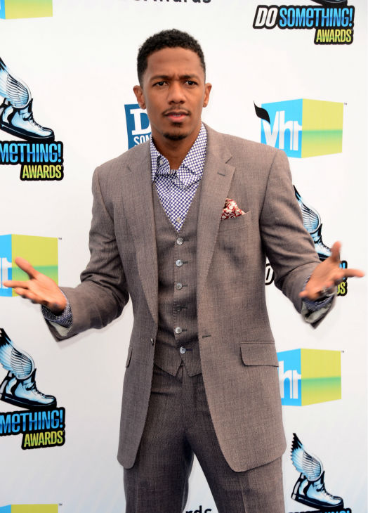 "<div class=""meta image-caption""><div class=""origin-logo origin-image ""><span></span></div><span class=""caption-text"">'America's Got Talent' host Nick Cannon arrives at the 2012 Do Something Awards at Barker Hangar on August 19, 2012 in Santa Monica, California. (Jason Merritt / Getty Images)</span></div>"