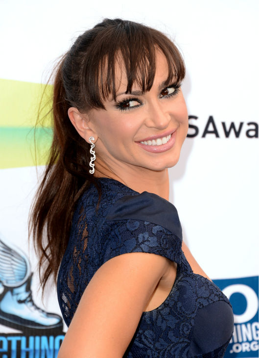 'Dancing With The Stars' cast member Karina Smirnoff arrives at the 2012 Do Something Awards at Barker Hangar on August 19, 2012 in Santa Monica, California.