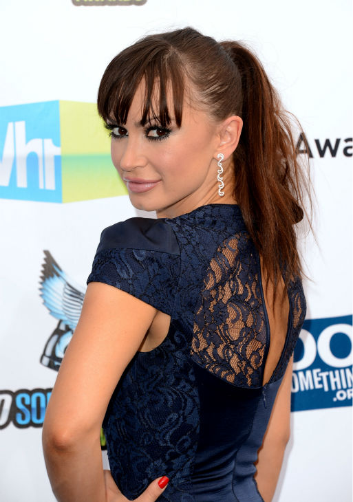 &#39;Dancing With The Stars&#39; cast member Karina Smirnoff arrives at the 2012 Do Something Awards at Barker Hangar on August 19, 2012 in Santa Monica, California. <span class=meta>(Jason Merritt &#47; Getty Images)</span>