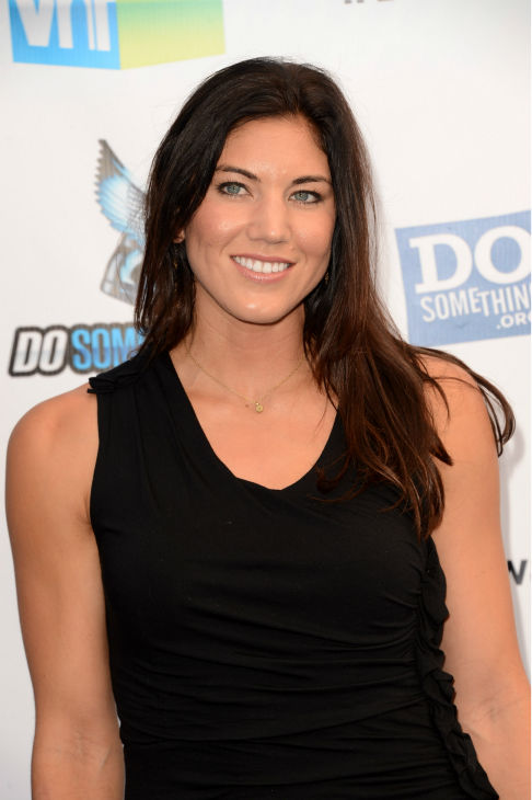 "<div class=""meta ""><span class=""caption-text "">Olympic soccer player and former 'Dancing With The Stars' contestant Hope Solo arrives at the 2012 Do Something Awards at Barker Hangar on August 19, 2012 in Santa Monica, California. (Jason Merritt / Getty Images)</span></div>"