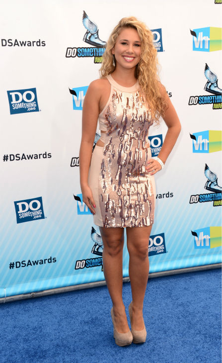 Haley Reinhart, 'American Idol' alum, arrives at the 2012 Do Something Awards at Barker Hangar on August 19, 2012 in Santa Monica, California.