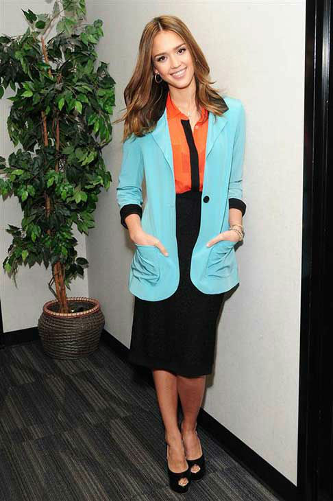 Jessica Alba appears at a taping of Good Day LA in Los Angeles on Jan. 25, 2012. <span class=meta>(Michael Williams &#47; startraksphoto.com)</span>