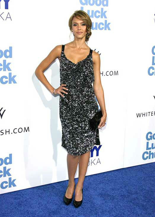 Jessica Alba appears at the premiere of &#39;Good Luck Chuck&#39; in Los Angeles on Sept. 19, 2007. <span class=meta>(Jen Lowery &#47; startraksphoto.com)</span>