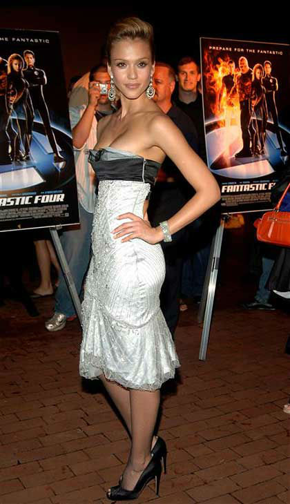Jessica Alba appears at the premiere of &#39;Fantastic Four&#39; in New York City on July 6, 2005. <span class=meta>(D. Carvalho &#47; startraksphoto.com)</span>