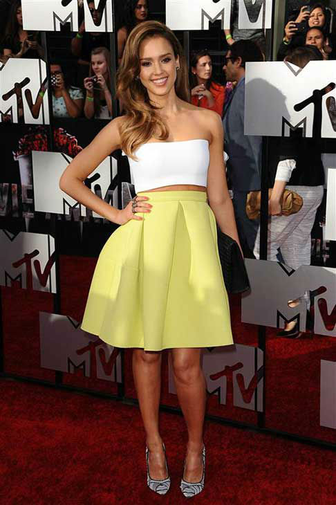 Jessica Alba appears at the 2014 MTV Movie Awards in Los Angeles on April 13, 2014. <span class=meta>(Kyle Rover &#47; startraksphoto.com)</span>