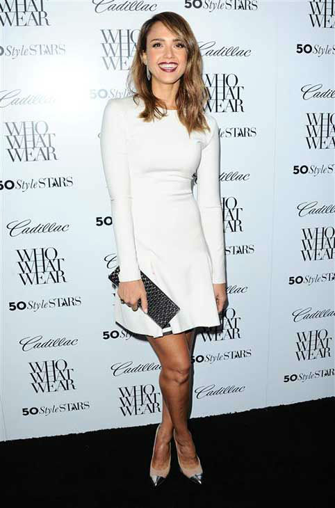 Jessica Alba appears at a Who What Wear event in Los Angeles on Oct. 24, 2013. <span class=meta>(Sara De Boer &#47; startraksphoto.com)</span>