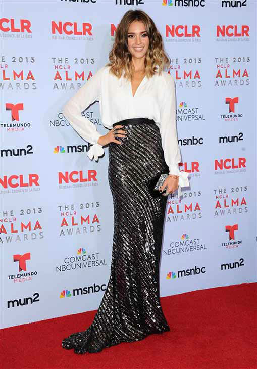 "<div class=""meta ""><span class=""caption-text "">Jessica Alba appears at the 2013 NCLR Alma Awards in Los Angeles on Sept. 27, 2013. (Sara De Boer / startraksphoto.com)</span></div>"