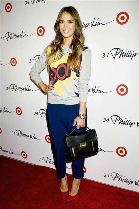 "<div class=""meta ""><span class=""caption-text "">Jessica Alba appears at the Phillip Lim for Target launch in New York City on Sept. 5, 2013. (Justin Campbell / startraksphoto.com)</span></div>"