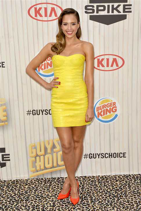 Jessica Alba appears at the 2013 Spike TV Guys Choice Awards in Los Angeles on June 8, 2013. <span class=meta>(Tony DiMaio &#47; startraksphoto.com)</span>