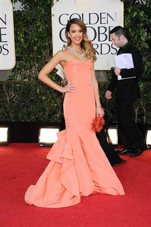 Jessica Alba appears at the 2013 Golden Globe Awards in Los Angeles on Jan. 13, 2013. <span class=meta>(Sara De Boer &#47; startraksphoto.com)</span>