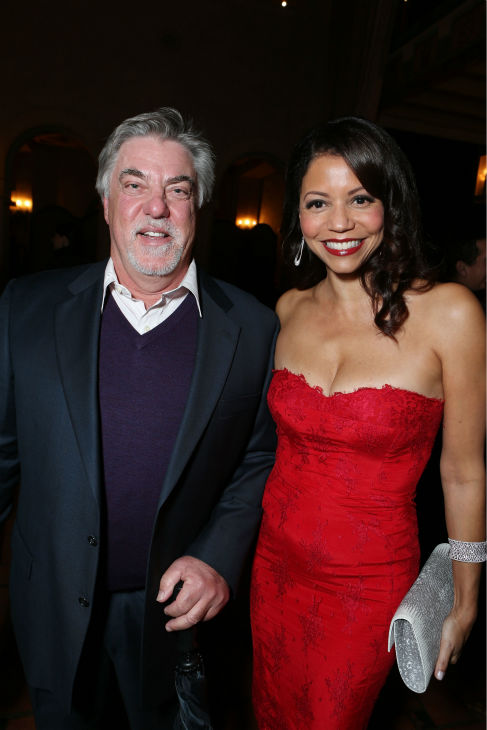Bruce McGill and Gloria Reuben attend the world...