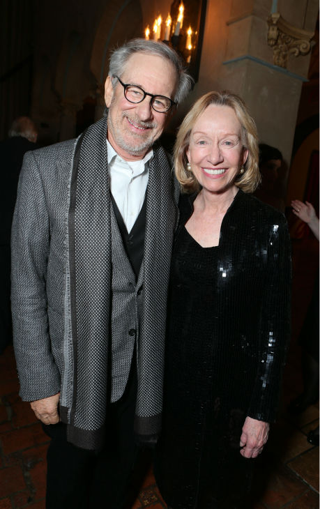 Director/producer Steven Spielberg and author...