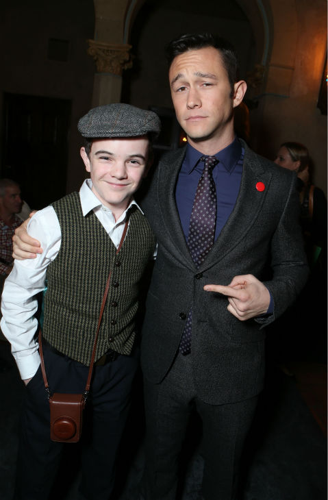 Gulliver McGrath and Joseph Gordon-Levitt attend the world premiere of DreamWorks Pictures' 'Lincoln' at AFI Fest 2012, held at Grauman's Chinese Theatre in Hollywood, on Nov. 8, 2012.