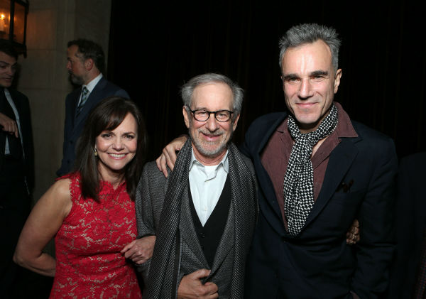 "<div class=""meta image-caption""><div class=""origin-logo origin-image ""><span></span></div><span class=""caption-text"">Sally Field, director/producer Steven Spielberg and Daniel Day-Lewis attend the world premiere of DreamWorks Pictures 'Lincoln' at AFI Fest 2012, held at Grauman's Chinese Theatre in Hollywood, on Nov. 8, 2012. (Eric Charbonneau / WireImage)</span></div>"