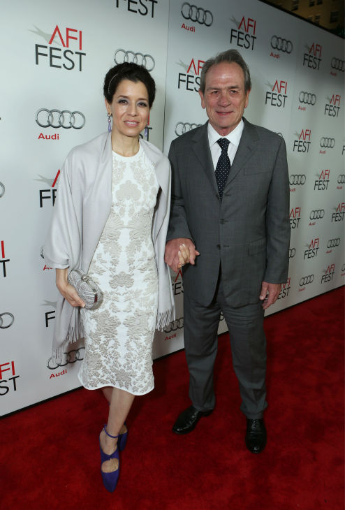 Dawn Jones and Tommy Lee Jones attend the world premiere of DreamWorks Pictures &#39;Lincoln&#39; at AFI Fest 2012, held at Grauman&#39;s Chinese Theatre in Hollywood, on Nov. 8, 2012. <span class=meta>(Eric Charbonneau &#47; WireImage)</span>
