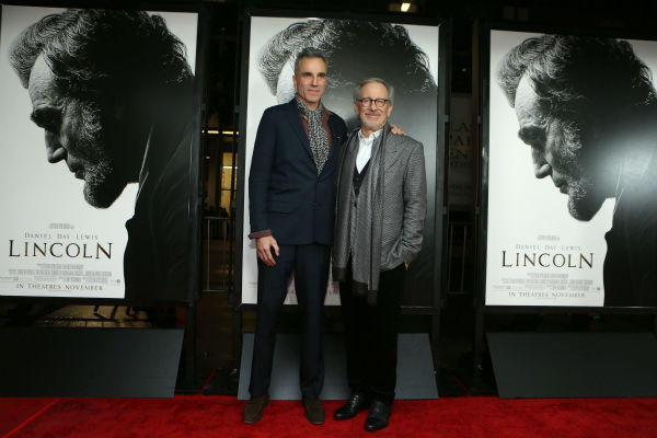 "<div class=""meta image-caption""><div class=""origin-logo origin-image ""><span></span></div><span class=""caption-text"">HOLLYWOOD, CA - NOVEMBER 08: Daniel Day-Lewis and Director/Producer Steven Spielberg at The World Premiere of DreamWorks Pictures ""Lincoln"" At The AFI FEST 2012 held at Grauman's Chinese Theatre on November 8, 2012 in Hollywood, California. Copyright info: 2012 DreamWorks II Distribution Co., LLC and Twentieth Century Fox Film Corporation. All Rights Reserved.  (Photo by Eric Charbonneau/WireImage) *** Local Caption *** Steven Spielberg;Daniel Day-Lewis (Eric Charbonneau / WireImage)</span></div>"