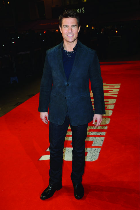 "<div class=""meta ""><span class=""caption-text "">Tom Cruise attends the world premiere of 'Jack Reacher' at The Odeon Leicester Square in London on Dec. 10, 2012.  In the action movie, Cruise portrays the title character, a rogue investigator who probes a case involving a psychopathic trained military sniper who shot dead five people in a massacre at a public plaza. The shooter claims he's innocent and had actually asked for Reacher to come.  The film is based on a 2005 book by Lee Child and also stars Robert Duvall, Joseph Sikora and actress Rosamund Pike. (Watch the trailer for 'Jack Reacher') (Dave J. Hogan / Getty Images for Paramount)</span></div>"