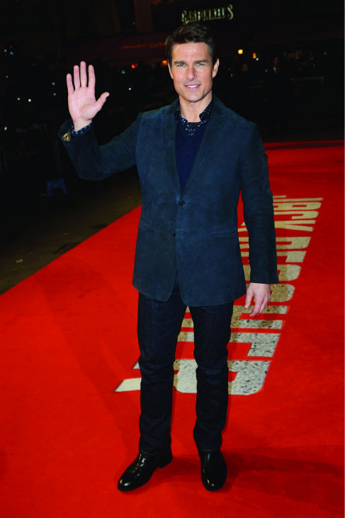 Tom Cruise attends the world premiere of 'Jack Reacher' at The Odeon Leicester Square in London on Dec. 10, 2012.