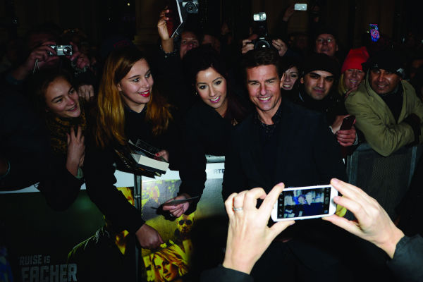 Tom Cruise attends the world premiere of 'Jack...