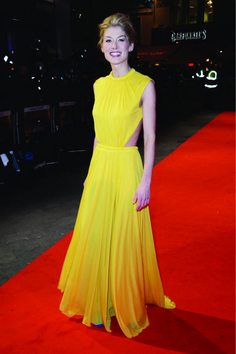 Rosamund Pike attends the world premiere of 'Jack Reacher' at The Odeon Leicester Square in London on Dec. 10, 2012.