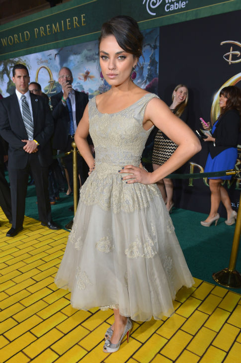 Mila Kunis attends Walt Disney Pictures' world premiere of 'Oz The Great And Powerful' at the El Capitan Theatre in Hollywood, California on February 13, 2013.