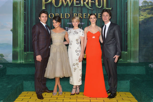 James Franco, Mila Kunis, Michelle Williams, Rachel Weisz and Zach Braff attend Walt Disney Pictures&#39; world premiere of &#39;Oz The Great And Powerful&#39; at the El Capitan Theatre in Hollywood, California on February 13, 2013. <span class=meta>(Alberto E. Rodriguez &#47; WireImage)</span>