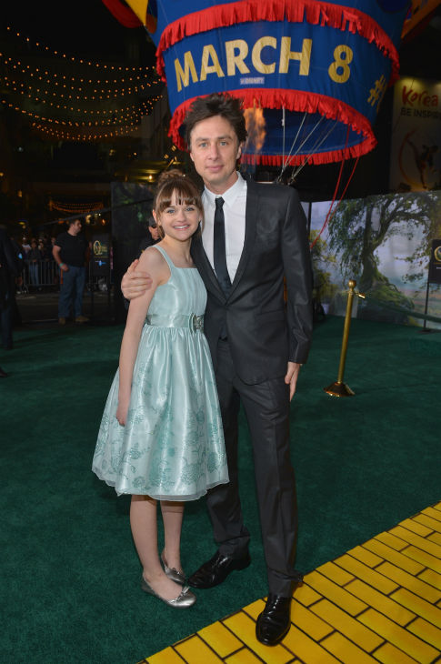 Joey King and Zach Braff attend Walt Disney Pictures' world premiere of 'Oz The Great And Powerful' at the El Capitan Theatre in Hollywood, California on February 13, 2013.