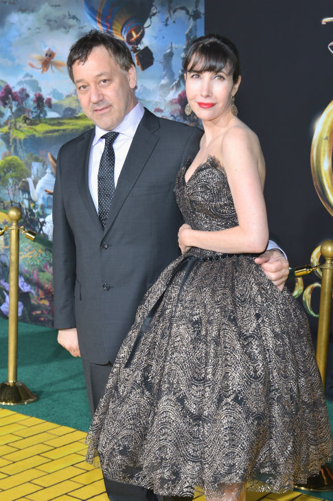 Director Sam Raimi and Gillian Greene attend Walt Disney Pictures' world premiere of 'Oz The Great And Powerful' at the El Capitan Theatre in Hollywood, California on February 13, 2013.