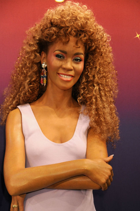 Madame Tussauds unveiled four wax figures of late singer Whitney Houston in New York on Feb. 7, 2013, almost one year after her death. This one depicts her in her 'I Wanna Dance With Somebody' music video and will be displayed at Madame Tussauds Las Vegas