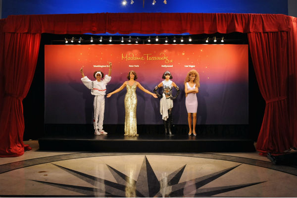 Madame Tussauds unveiled four wax figures of late singer Whitney Houston in New York on Feb. 7, 2013, alm
