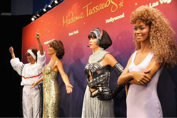 Madame Tussauds unveiled four wax figures of late singer Whitney Houston in New