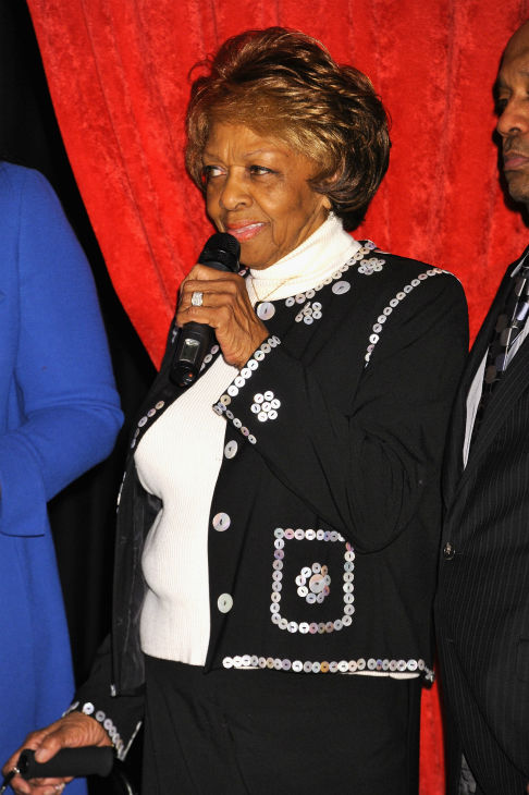 Cissy Houston attends Madame Tussauds' unveiling of four wax figures of her daughter