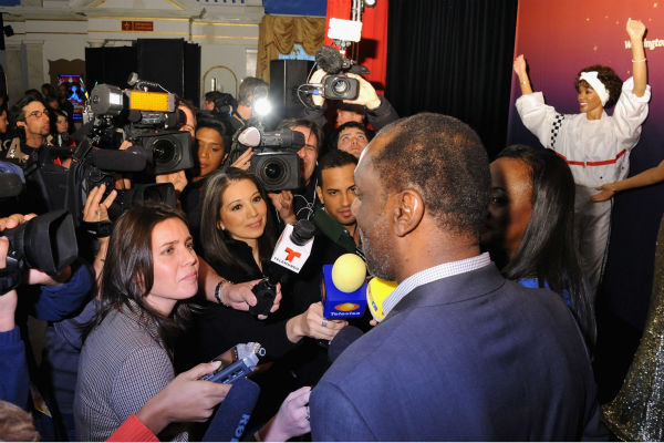 Gary Houston, brother of Whitney Houston, and wife Pat attend Madame Tussauds' unveiling of four w