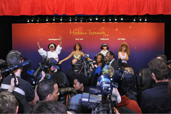 Gary Houston, brother of Whitney Houston, and wife Pat attend Madame Tussaud