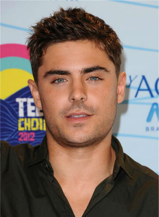 Zac Efron attends the 2012 Teen Choice Awards in Universal City, California on July 22, 2012.