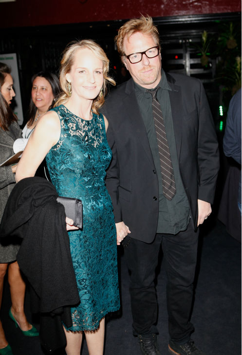 Current Oscar nominee and former winner Helen Hunt &#40;L&#41; and boyfriend Matthew Carnahan, a writer, attend Global Green USA&#39;s 10th annual Pre-Oscars Party at the Avalon club in Hollywood, California on Feb. 20, 2013. <span class=meta>(Todd Oren &#47; Getty Images for Global Green)</span>