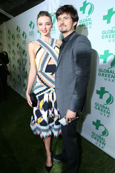 Victoria&#39;s Secret supermodel Miranda Kerr and husband and actor Orlando Bloom attend Global Green USA&#39;s 10th annual Pre-Oscars Party at the Avalon club in Hollywood, California on Feb. 20, 2013. <span class=meta>(Alexandra Wyman &#47; Getty Images for Global Green)</span>