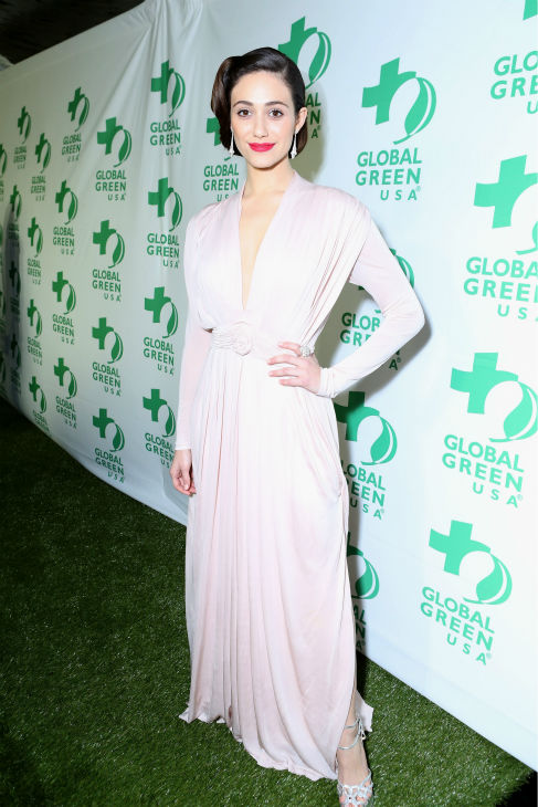 Emmy Rossum &#40;Fiona on Showtime&#39;s &#39;Shameless&#39;&#41; attends Global Green USA&#39;s 10th annual Pre-Oscars Party at the Avalon club in Hollywood, California on Feb. 20, 2013. <span class=meta>(Alexandra Wyman &#47; Getty Images for Global Green)</span>