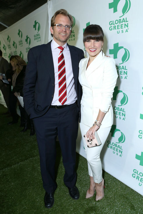 Global Green USA CEO Matt Petersen and former &#39;One Tree Hill&#39; star Sophia Bush attend Global Green USA&#39;s 10th annual Pre-Oscars Party at the Avalon club in Hollywood, California on Feb. 20, 2013. <span class=meta>(Alexandra Wyman &#47; Getty Images for Global Green)</span>