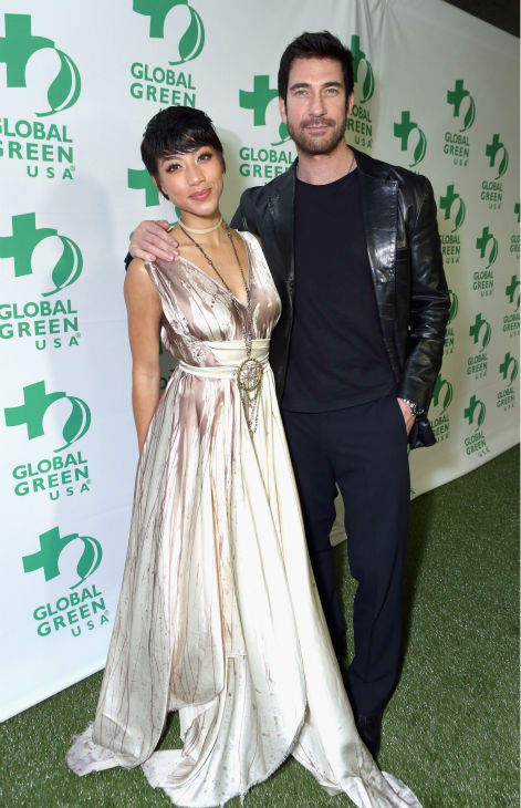 Shasi Wells &#40;L&#41; and boyfriend and actor Dylan McDermott attend Global Green USA&#39;s 10th annual Pre-Oscars Party at the Avalon club in Hollywood, California on Feb. 20, 2013. <span class=meta>(Alexandra Wyman &#47; Getty Images for Global Green)</span>