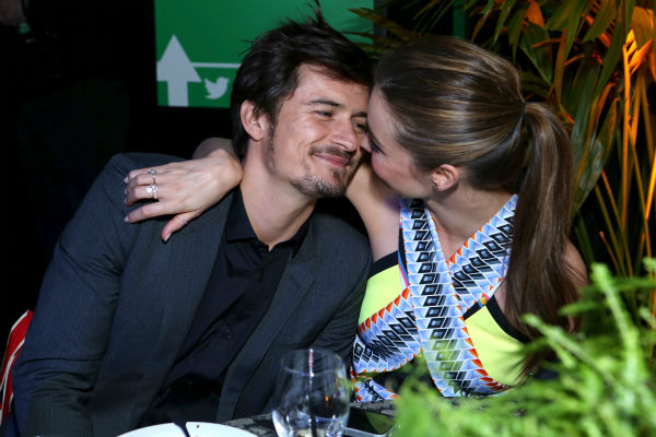 Victoria&#39;s Secret supermodel Miranda Kerr and husband and actor Orlando Bloom attend Global Green USA&#39;s 10th annual Pre-Oscars Party at the Avalon club in Hollywood, California on Feb. 20, 2013. Kerr wore a multicolored, criss-cross, cutout over-the-knee Peter Pilotto Spring 2013 &#39;Bianca&#39; dress that retails for &#36;2,300. <span class=meta>(Alexandra Wyman &#47; Getty Images for Global Green)</span>