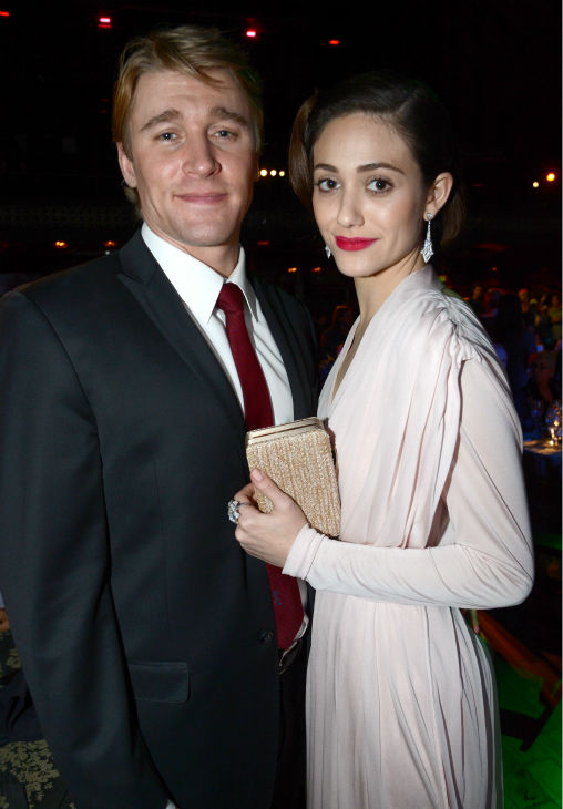 Emmy Rossum &#40;Fiona on Showtime&#39;s &#39;Shameless&#39;&#41; and boyfriend Tyler Jacob Moore &#40;police officer Tony on Showtime&#39;s &#39;Shameless&#39;&#41; attend Global Green USA&#39;s 10th annual Pre-Oscars Party at the Avalon club in Hollywood, California on Feb. 20, 2013. <span class=meta>(Chris Weeks &#47; Getty Images for Global Green)</span>
