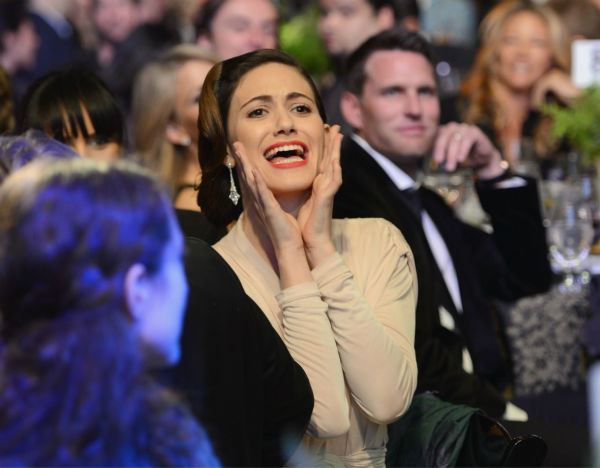 "<div class=""meta ""><span class=""caption-text "">Emmy Rossum (Fiona on Showtime's 'Shameless') attends Global Green USA's 10th annual Pre-Oscars Party at the Avalon club in Hollywood, California on Feb. 20, 2013. (Chris Weeks / Getty Images for Global Green)</span></div>"