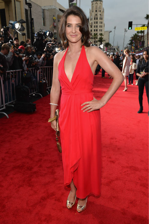 Actress Cobie Smulders attends Marvel's 'Iron Man 3' Premiere at the El Capitan Theatre in Hollywood on April 24, 2013.